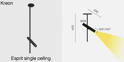 Kreon Esprit single ceiling