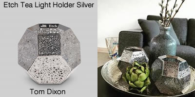 Tom Dixon Etch Tea Light Holder Silver