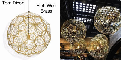 Tom Dixon Etch Web Brass
