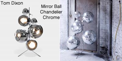 Tom Dixon Mirror Ball Chandelier Chrome