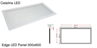Catalina LED_Edge LED Panel 300x600