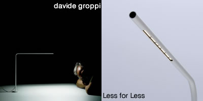 Davide Groppi Less for Less